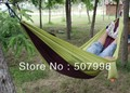 Parachute Cloth Double Hammock Tourism Camping Hammock Survival Outdoor or Indoor 240*140cm D-1116