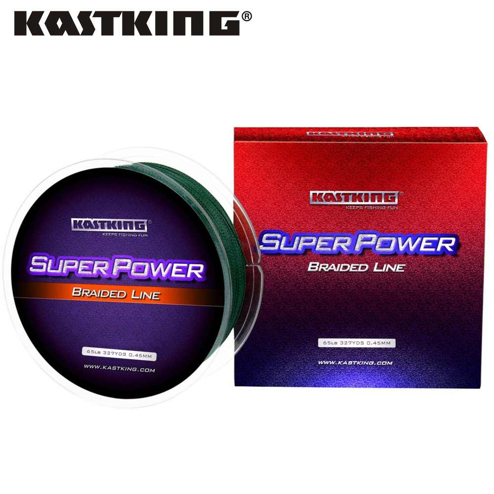 KastKing Brand 2017 New PE Braided Fishing Line 6-80LB 4 Strands 300M 327Yds Multifilament Line