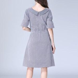 Image 5 - רגש אמהות פסים יולדות בגדי סיעוד הנקת הריון שמלות לנשים בהריון יולדות שמלת S M L XL
