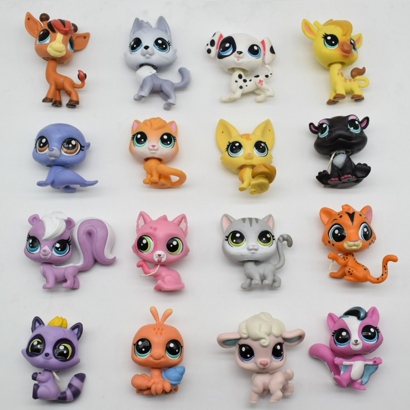 LPS Toy bag 18Pcs Pet Shop Animals Cats Kids Children Action Figures PVC LPS Toy Birthday/Christmas Gift 20pcs 1lot petshop cartoon pet shop patrulla canina toys action figure toy 778 minifigure christmas gift to kids