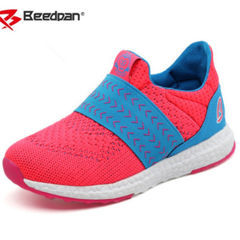 Beedpan Brand 2018 Spring Autumn Fashion Boys Girls Sneakers Mesh Shoes Children Sports Sneakers Breathable Boys Shoes Loafers 2017 babyfeet spring and autumn children sneakers baby girls child toddler shoes breathable fashion pu leather boys sports shoes