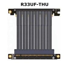 Ультра тонкий GPU Графика карты удлинитель PCIe 3,0×16 Extender riser Card PCI-e 16x гибкий кабель 30 см 1FT для W1 ITX корпус