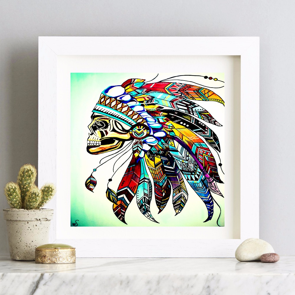 Trusted Home Painting Services In India: Headdress Native American Indian Canvas Art Print Painting