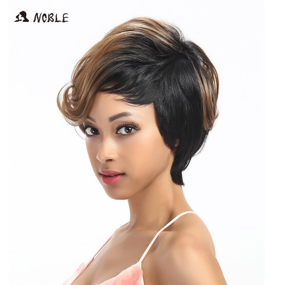 Pelucas sintéticas nobles del pelo Pelucas rubias onduladas cortas - Cabello sintético - foto 2