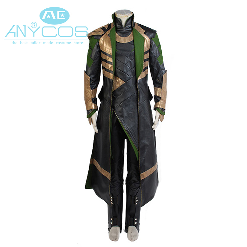 American Flim Thor Kostym Cosplay The Dark World Avengers Loki Cosplay Lång Coat Set Superhero Halloween Cosplay Kostymer