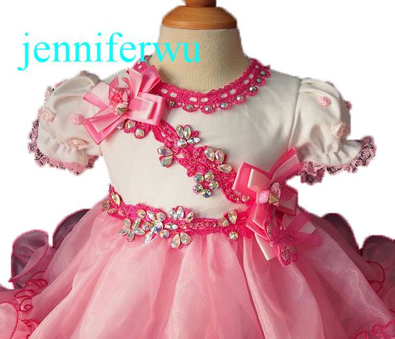 ФОТО baby doll skirt little girl formal cloths and pageant dress girl party dress  prom gown1T-6T G002-1