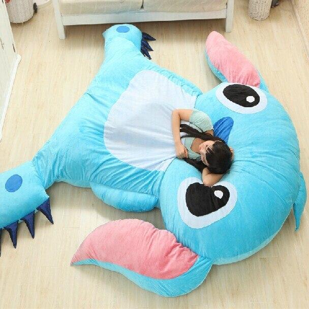 2016 High Quality Anime Stitch Tatami Giant Soft Plush Thickened