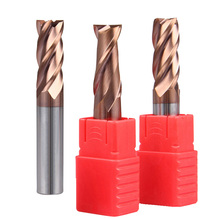 1PC 6mm 8mm End Mills HRC55 Mill 2F 4F flat alloy carbide milling tungsten steel mill cutter Tool for Steel