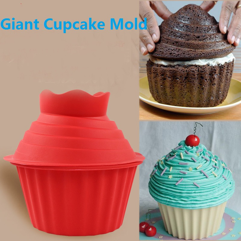 High Quality Silicone Giant Cupcake Mold 3 Pcs Big Top Cupcake