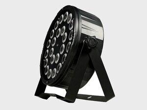 Image 4 - 8 adet/24x12w RGBW 4 in 1 Led Par ışıkları tam renkli Led düz Par ışık DMX512 Dj yıkama lambası