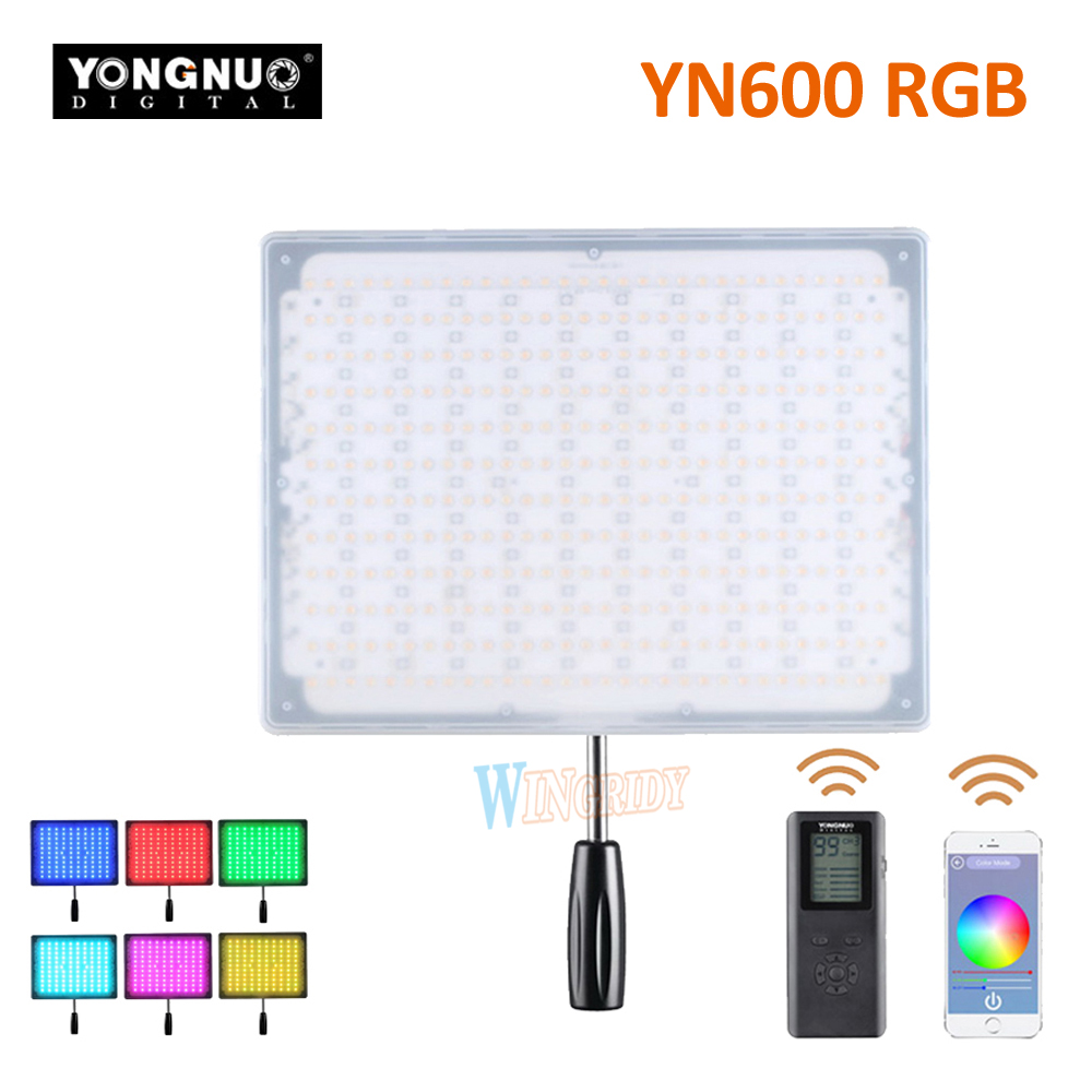 YONGNUO YN600 RGB LED Video Light YN 600RGB LED Photo Light Adjustable Bicolor 3200K-5500K Dimmable Wireless Bluetooth RemoteYONGNUO YN600 RGB LED Video Light YN 600RGB LED Photo Light Adjustable Bicolor 3200K-5500K Dimmable Wireless Bluetooth Remote