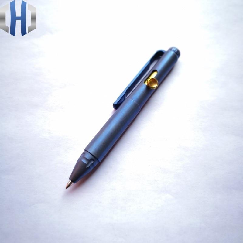 2019 New Blue Pen EDC Titanium Alloy Mini Defense Pen EDC Tools