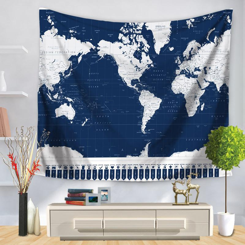 Oem Custom Vintage World Map Tapestry Europe Middle Earth Travel