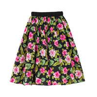 6 to 16 years kids & teenager girls summer flower print casual skirts children big girl flare skirts clothes