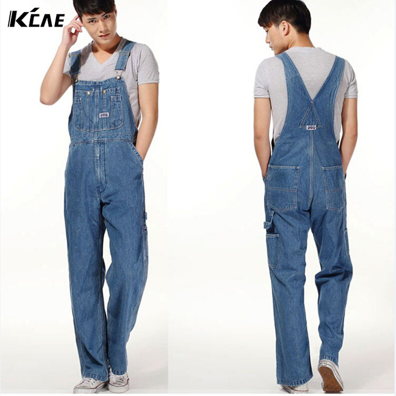 Free shipping Hot 2015 Men s Plus Size Overalls Large Size Huge Denim Bib Pants Fashion