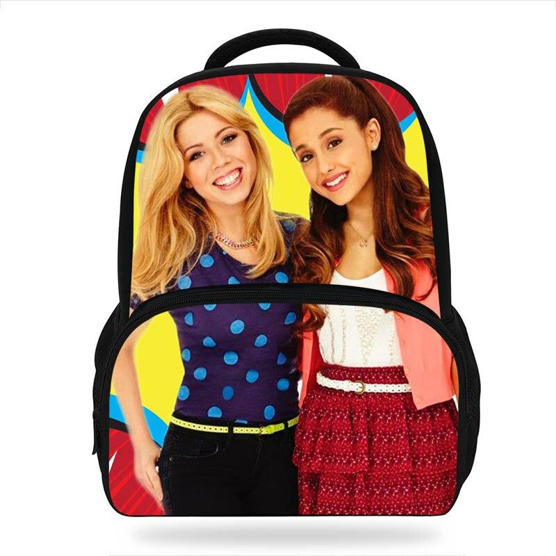 ffe42ecb188 US $18.82 27% OFF|Popular Sam & Cat Tv Cast Printing Backpack For Teenage  Girls young Lady Cute Kindergarten Backpacks Kids School Bags Bookbag-in ...