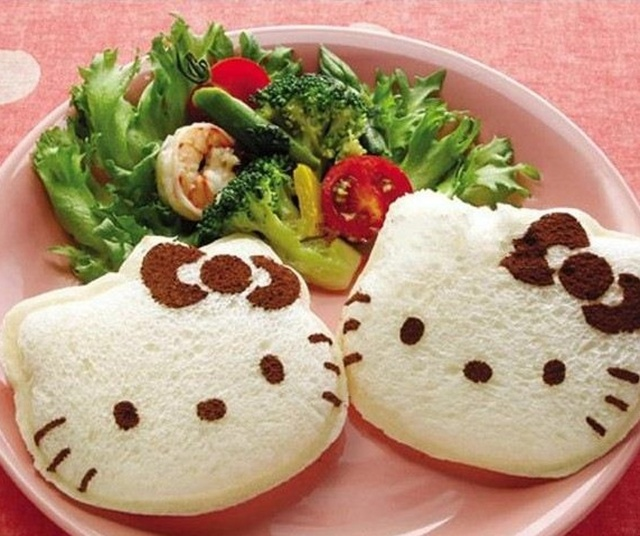 Бесплатная Доставка Kawaii Hello Kitty Сэндвич Плесень Хлеб Прессформы Торта Maker DIY Плесень Резак Ремесло Розничная K6462