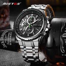 RISTOS Мужские часы военные наручные часы из нержавеющей стали Reloj Hombre мужские кварцевые часы Reloj Masculino Экстремальный Спорт Мода 9323