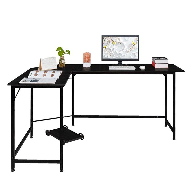 Noir En Forme de L ordinateur de bureau mobilier De Bureau de Bureau - 3