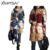 2016 Nova Primavera/Outono Mulheres Moda Trenchcoat Plus Size XXL Blusão Acolchoado Retro Arte de Impressão Com Capuz de Médio-longo Outwear