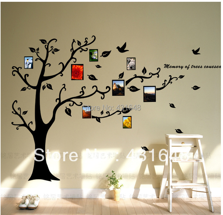 supernova sale!photo frame family tree wall decal&vinyl wall art