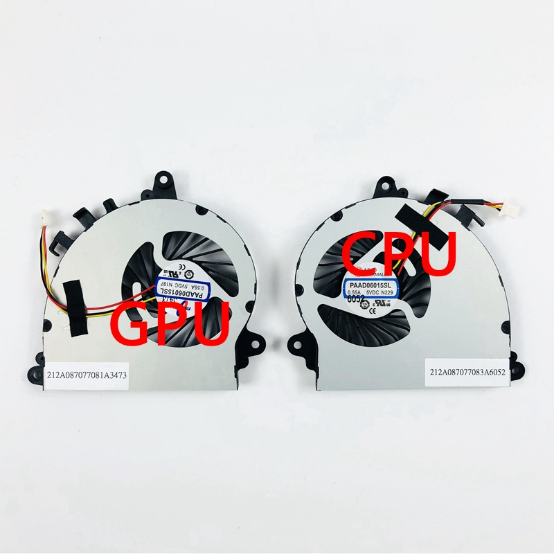 New Original For MSI GS70 GS72 MS-1771 MS-1773 UX7 7G-700 CPU GPU Cooling Cooler Fan PAAD06015SL N184 N346 N197 N269 N229 N154