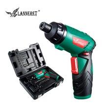 LANNERET 3.6 V Lithium-Ion sans fil tournevis électrique ménage multifonction perceuse/pilote pistolet électrique outils lumière LED