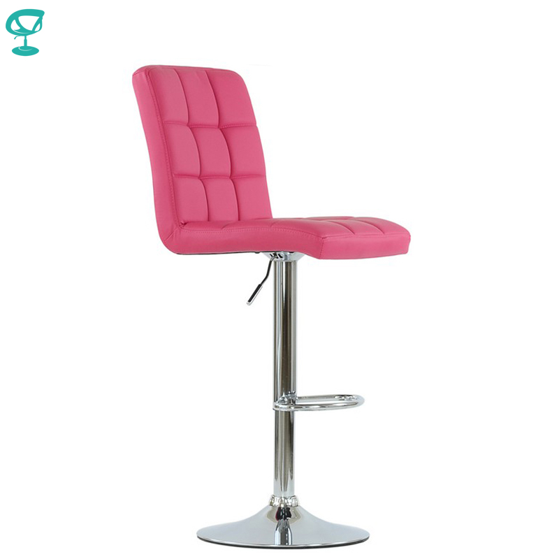 94793 Barneo N-48 Leather Kitchen Breakfast Bar Stool Swivel Bar Chair Pink Color Free Shipping In Russia