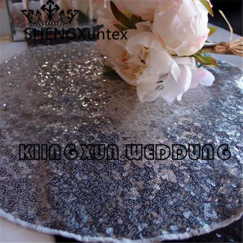 Good Looking Round Sequin Table Placemat For Wedding Event Table Cloth Decoration