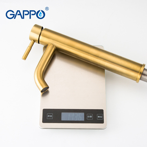 Image 5 - GAPPO basin Faucet brushed gold bathroom faucet mixer stainless steel waterfall faucet tall bathroom faucet basin mixer torneira