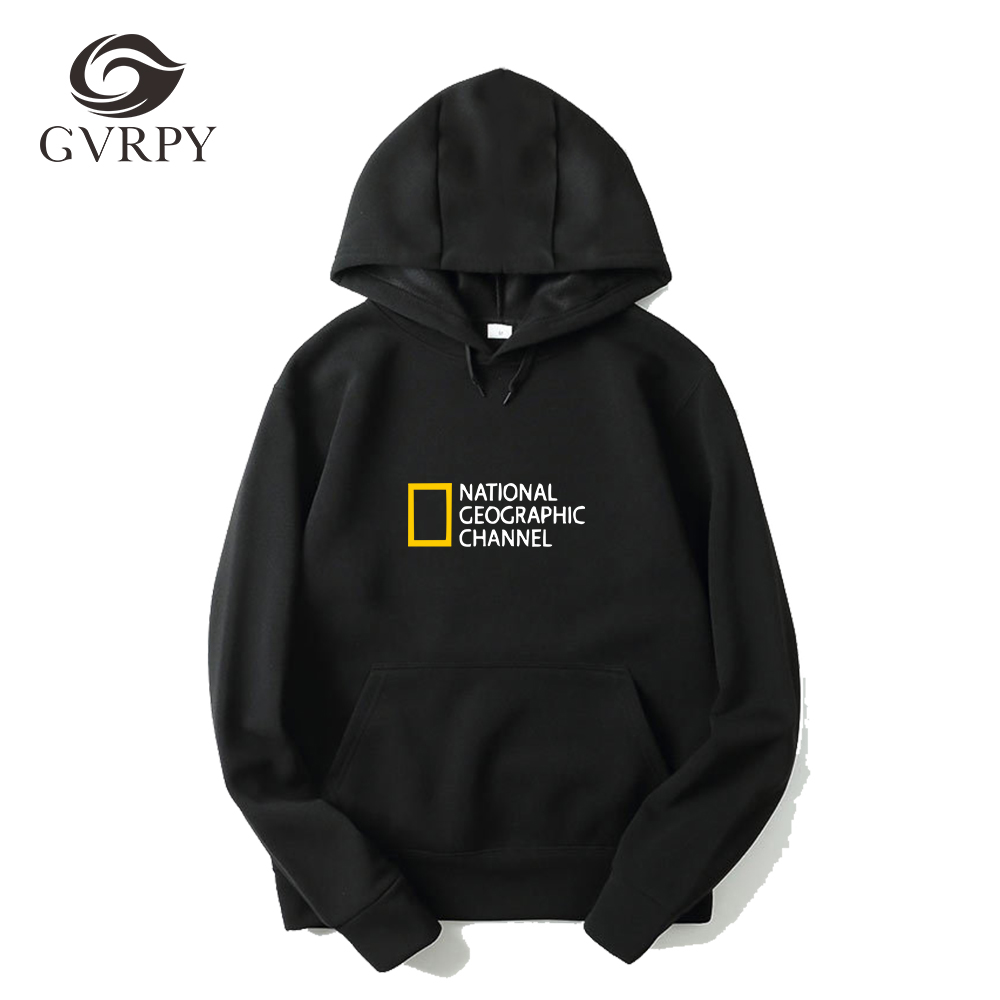 NATIONAL GEOGRAPHIC CHANNEL Print Hoodies Women Men Winter Warm Hip Hop Pullovers Streetwear Female Comfortable Harajuku Hoodies