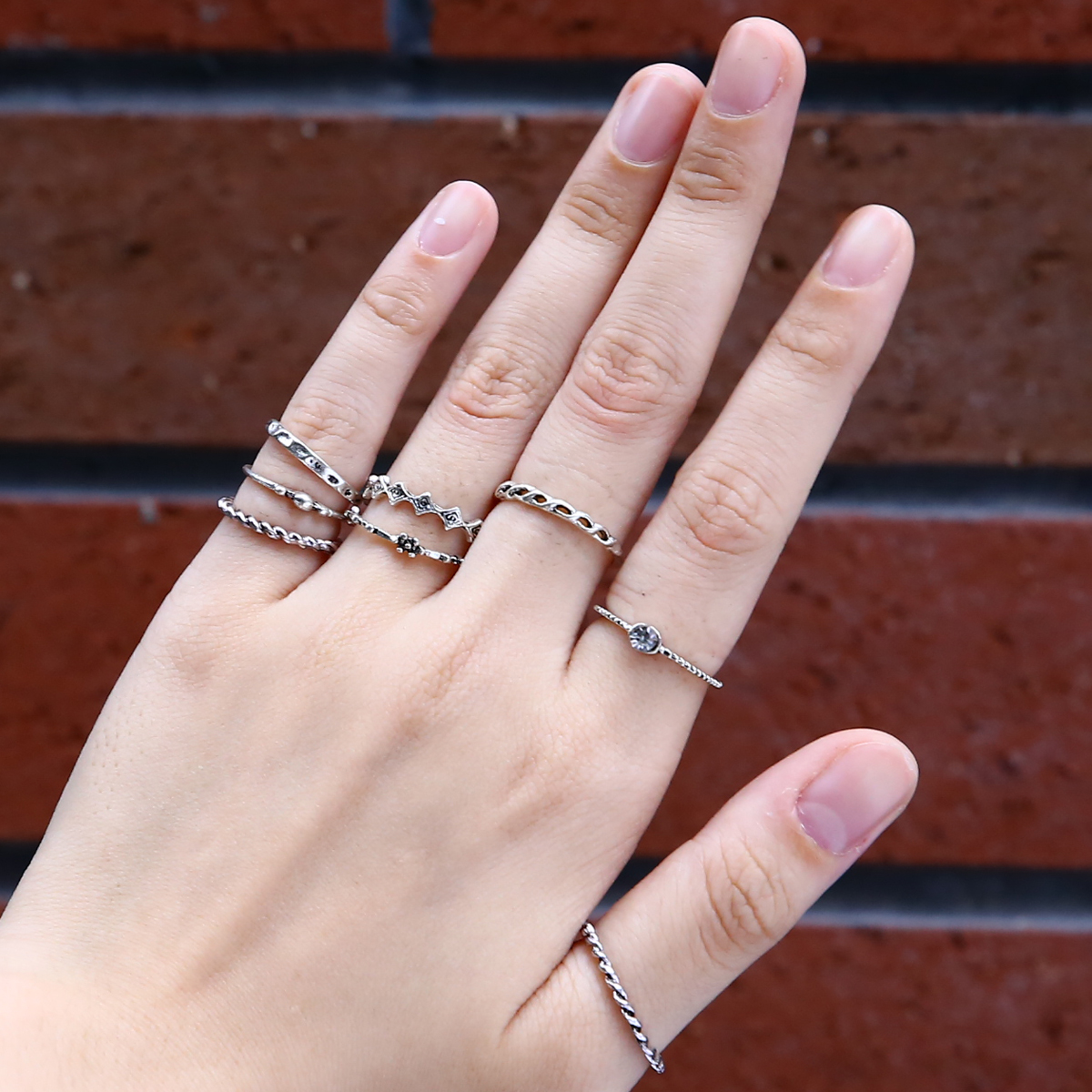 Boho Women Aolly Ring Set Fashion Lady Girls Above Knuckle Midi Finger Rings Anel masculino For Women Punk Party Jewelry