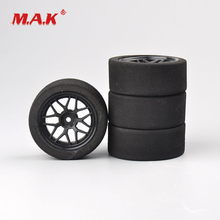 4Pcs/Set 1:10 Scale Foam Tires and Wheel Rims with 3mm Offset and 12mm Hex fit RC HSP HPI On-Road Racing Car Accessories 4pcs set racing foam tire wheel rims set for hsp hpi 1 10 on road rc car 12mm hex rc racing cars accessories