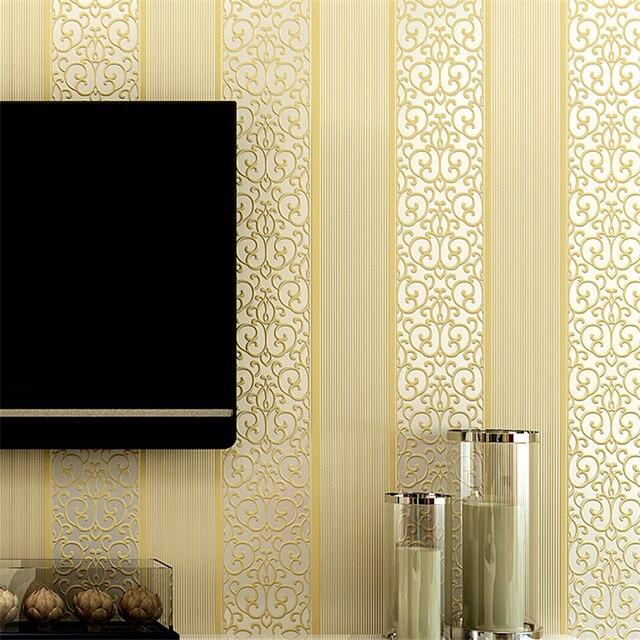 Modern Vertical Stripes Desktop Wallpaper Roll Papel De Parede 3D Wall Paper For Living Room Flooring