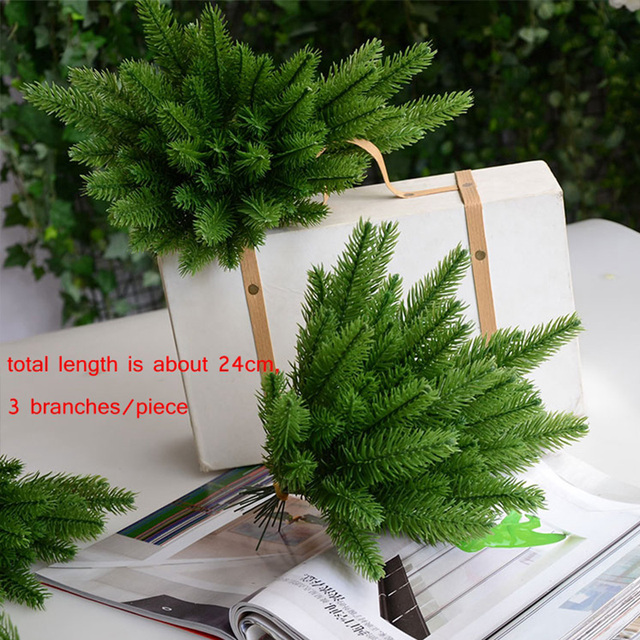 DIY Artificial Plants Pine Branches Christmas Tree Accessories  1