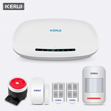 KERUI W19 Wireless Phone APP Remote Control Message Push Auto Dial Home Security GSM Alarm System with IP Camera Solar Siren Kit kerui 7 inch tft color display wifi gsm security alarm system smart home solar siren with ip camera pir motion detector