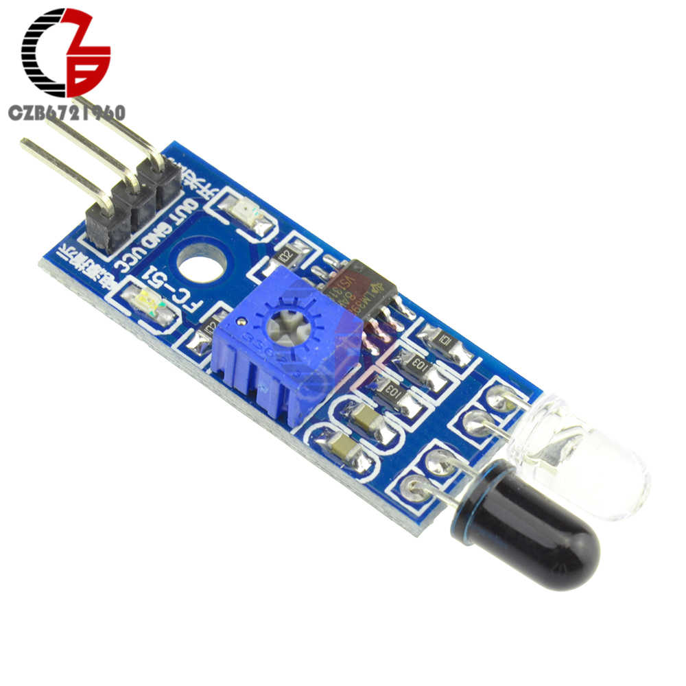 Infrared Tracking Sensor Module IR Trace Track Detector Signal Indicator Highly Sensitive Resistor for Smart Tracking Car Robot