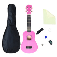 21 Inches Music Instrument Ukulele Kits with Instructional Book for Beginner Early Music Education Toys for Children