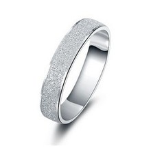 Free shipping bestselling Brush Finish Sterling Silver rings 925 silver unisex finger ring wholesale