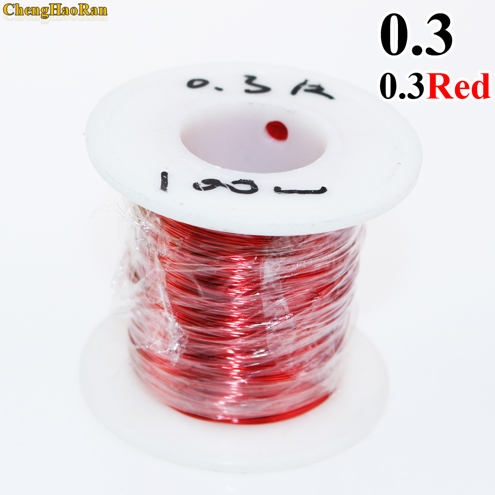 Image 2 - ChengHaoRan 0.3mm x 50m 100m QA 1 155 Polyurethane enameled wire Copper Wire 50meter/pc 100 meter-in Computer Cables & Connectors from Computer & Office