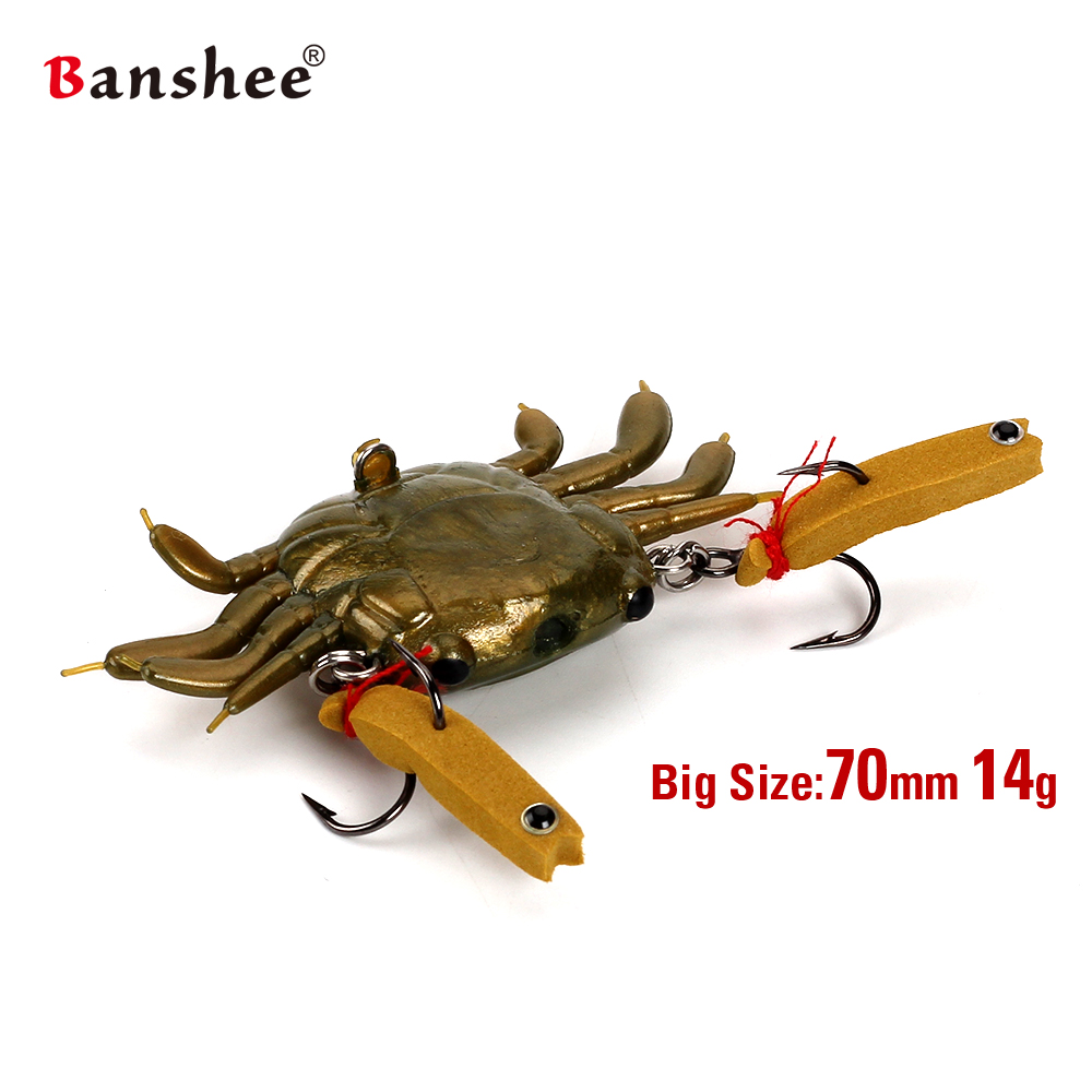 Banshee Cuti Soft Crab Fishing lure bait PVC Silicon environmental Frendly material for Bass Walleye pike perch