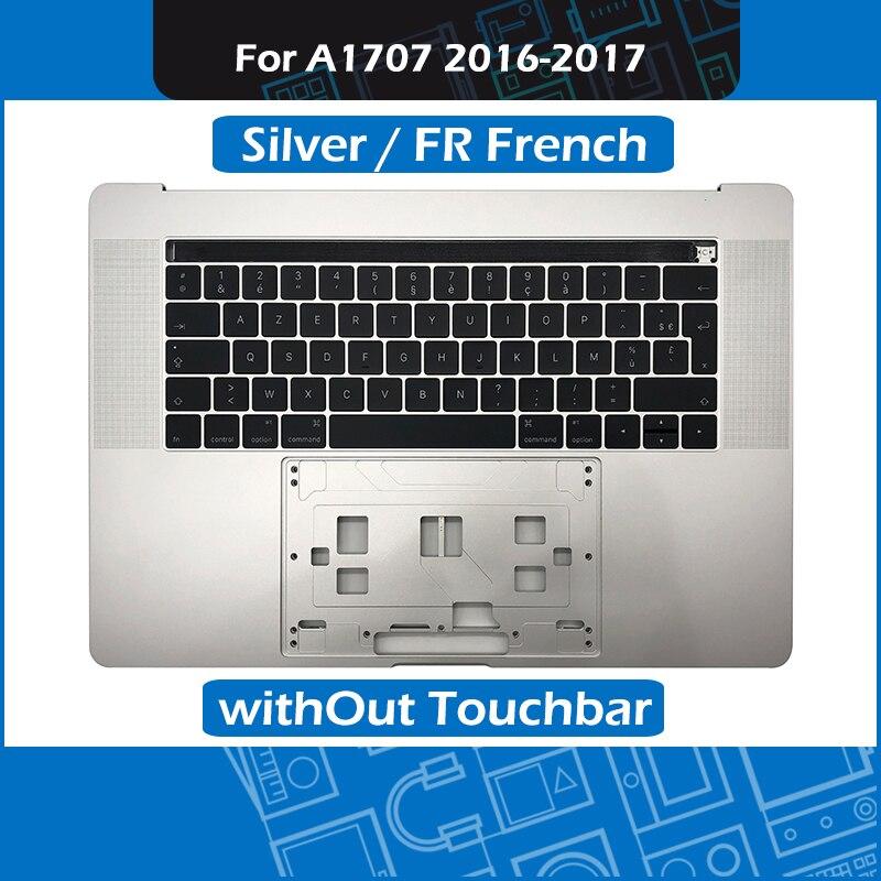 Серебряный A1707 Топ чехол для Macbook Pro retina 15 A1707 ладоней с fr Французская клавиатура на замену 2016 2017 год