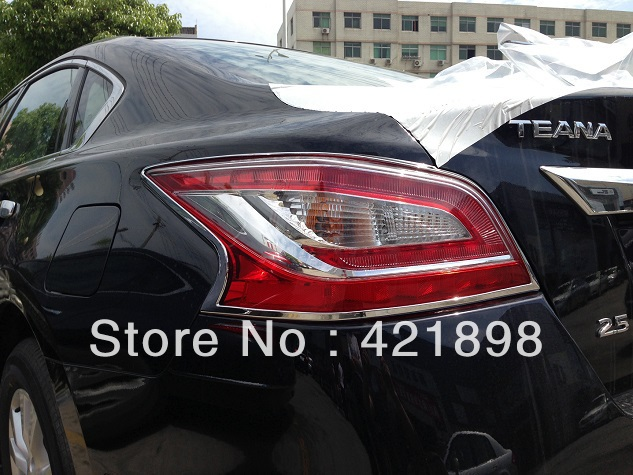 for nissan altima 2013 2014 2015 abs chrome tail light lamp cover trim 2 pcs in chromium styling. Black Bedroom Furniture Sets. Home Design Ideas