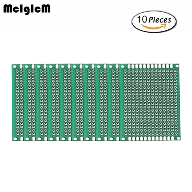 MCIGICM 10pcs High-quality!! Double Side Prototype PCB diy Universal Printed Circuit Board 4x6cm Hot sale
