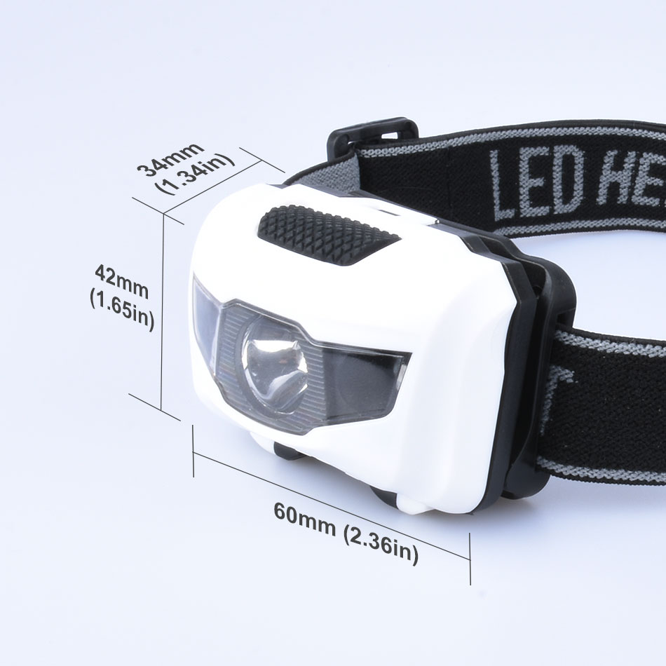 Mini Portable Headlamp Waterproof LED Head Lamp Light LED Headlight Flashlight Fishing Lanterna 3* AAA Battery for Camping Light