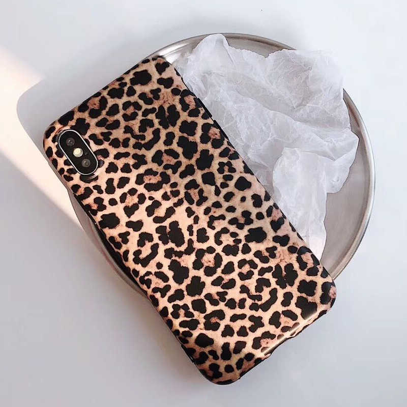 Funda de silicona de leopardo Prain TPU para iPhone 6 6s 7 8 Plus fundas suaves mate para X XR XS MAX para iPhone 11 Pro Max