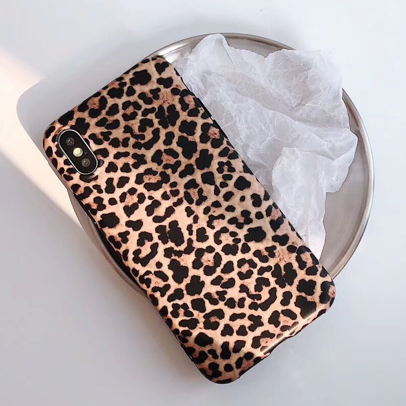 <font><b>Sexy</b></font> Leopard Prain TPU Silicone <font><b>Case</b></font> Cover Skin For <font><b>iPhone</b></font> 6 <font><b>6s</b></font> 7 8 Plus Matte Soft <font><b>Cases</b></font> For X XR XS MAX For <font><b>iPhone</b></font> 11 Pro Max image