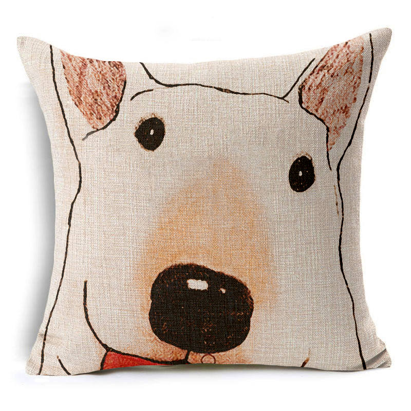 Hyha Animal Abstract Cushion Cover Dog Funny Elephant Pig christmas Throw Pillow Cover Decorative Cushion Covers for Sofa