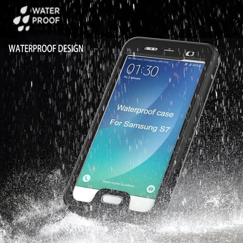 Цена за Для Samsung Galaxy S7 warterproof чехол Ultra Slim роскошь Грязь/ударопрочный телефон чехол 360 протектор мобильного телефона аксессуары