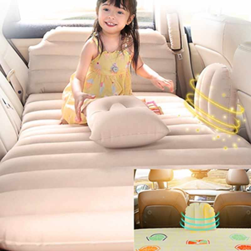 Portable Inflatable Car Bed Multifunction Furniture Travel Bedroom Children Kids Bed With Car Air Pump Summer Outdoor Swim Beds